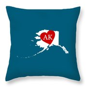Love Alaska White Throw Pillow