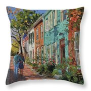 Love Along The C@o Canal Throw Pillow