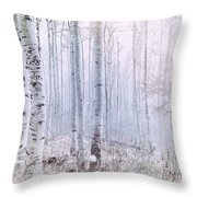 Love Amidst The Aspens Throw Pillow by Kevyn Bashore