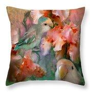 Love Among The Irises Throw Pillow by Carol Cavalaris