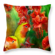 Love Among The Poppies Throw Pillow