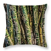 Love And Bamboo Throw Pillow