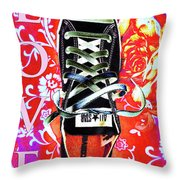 Love And Converse Throw Pillow