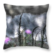 Love And Death Throw Pillow by Wayne King