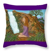 Love And Gratitude Meditation - Illustration #13 In The Infinite Song Throw Pillow