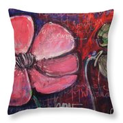 Love And Live With Purpose Poppies Throw Pillow