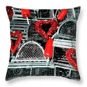 Love And Lobster Throw Pillow
