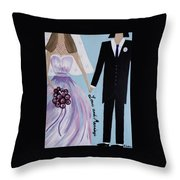 Love And Marriage Throw Pillow