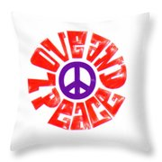 Love And Peace 14 Throw Pillow