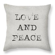 Love And Peace Throw Pillow