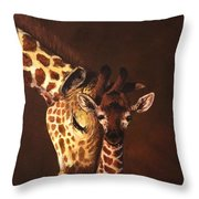 Love And Pride Giraffes Throw Pillow