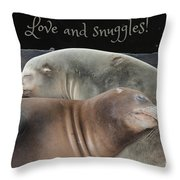 Love And Snuggles Throw Pillow