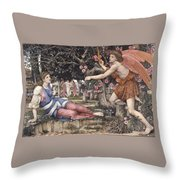 Love And The Maiden Throw Pillow