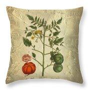 Love Apple Botanical  Throw Pillow