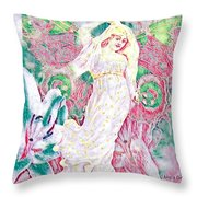 Love Arrives In Spring Throw Pillow