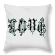 Love Art Typography - Elegant Art Prints Throw Pillow