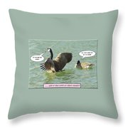 Love At First Flight Throw Pillow