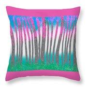 Love Birch Throw Pillow