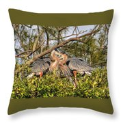 Love Birds - Great Blue Heron Throw Pillow
