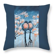 Love Birds Throw Pillow by Holly Donohoe