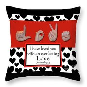 Love - Bw Graphic Throw Pillow