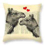 Love Camels Throw Pillow