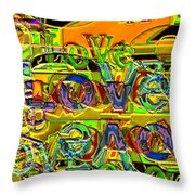 Love Contest Throw Pillow