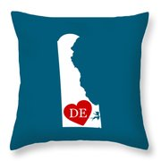 Love Delaware White Throw Pillow