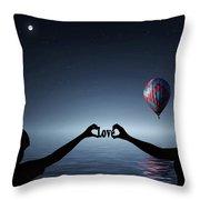 Love - Digital Art Throw Pillow