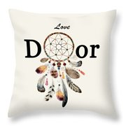 Love Dior Watercolour Dreamcatcher Throw Pillow