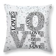 Love Droplets Throw Pillow