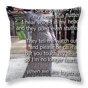 Love Feels So Real Throw Pillow