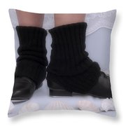Love For Tap Dance Shoes In Dance Warmers Throw Pillow