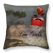 Love Growth - V2t1 Throw Pillow