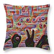 Love Hands Rendering Throw Pillow