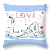 Love Hearts - Valentine's Day Throw Pillow