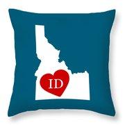 Love Idaho White Throw Pillow