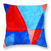 Love In Abstract Word Art Throw Pillow
