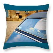 Love In Blue Throw Pillow
