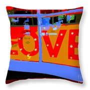 Love  In Lights Throw Pillow