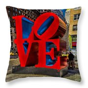 Love In Nyc Throw Pillow
