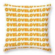 Love In Orange  Throw Pillow