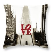 Love In Philadelphia Throw Pillow