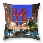 Love In Philly Throw Pillow