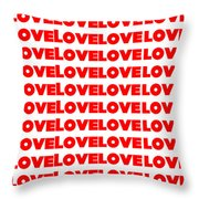 Love In Red Throw Pillow