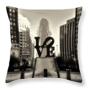 Love In Sepia Throw Pillow