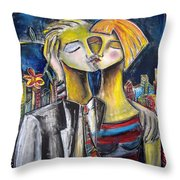 Love In The City Throw Pillow