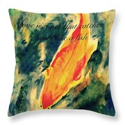 Love Is A Like A Net That Catches Heart Like A Fish Throw Pillow