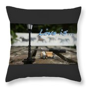 Love Is By Guido Prussia Throw Pillow
