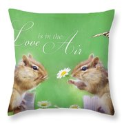 Love Is In The Air Throw Pillow by Lori Deiter